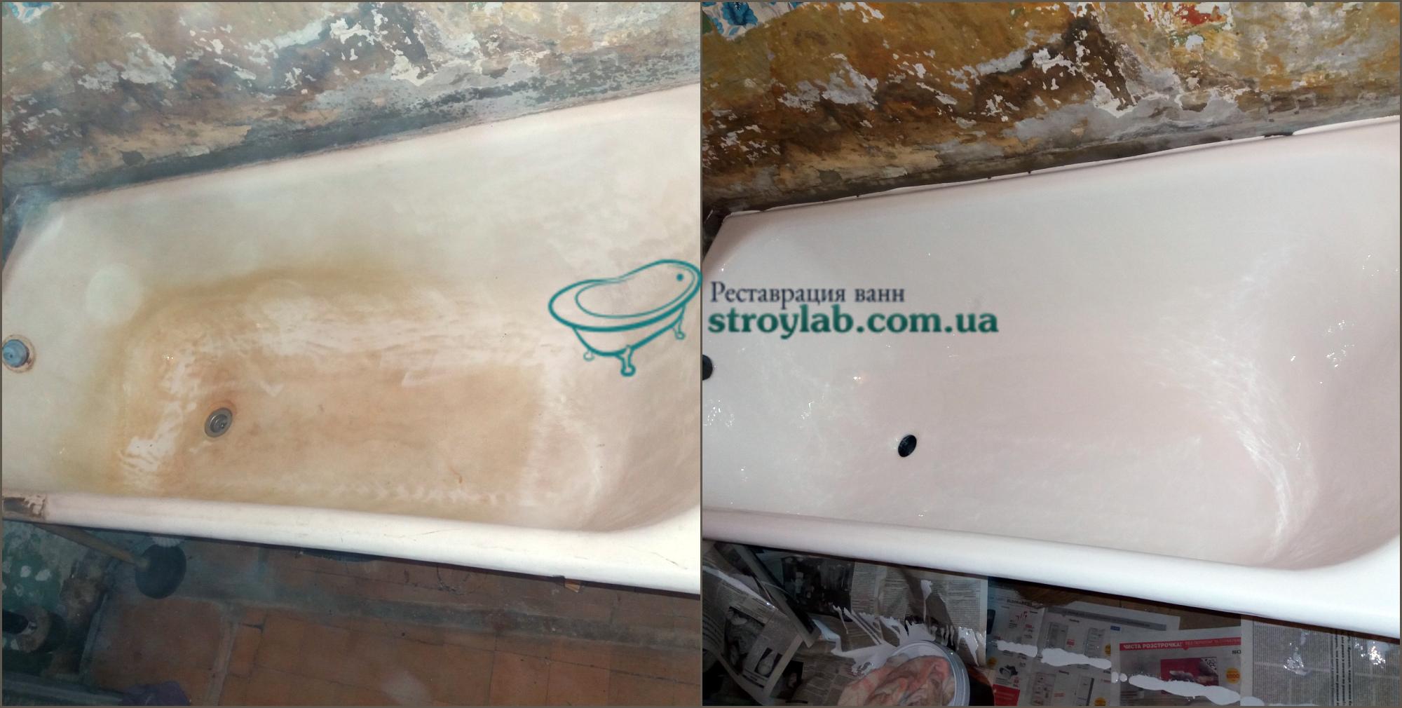 Восстановление ванны акрилом в Вышгороде